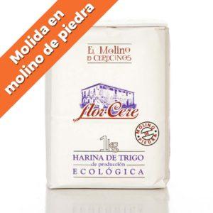 """Harina de Trigo Ecológica Blanca W-200 """"Molino de Piedra"""" 1 kg"""