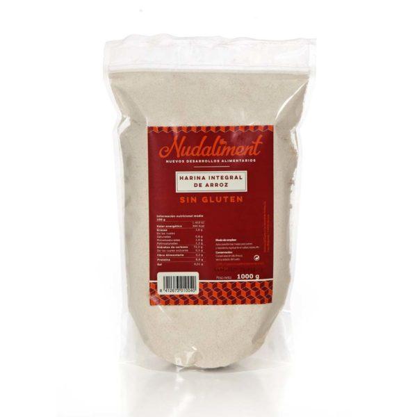 Harina Integral de Arroz Sin Gluten 1000 gr