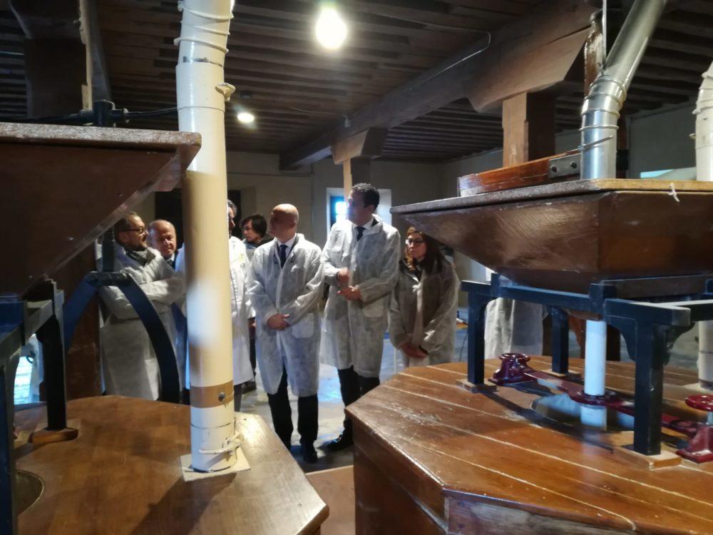 Visita del Viceconsejero de Desarrollo Rural de la Junta de Castilla y León y Director General del ITACyL al Molino de Piedra