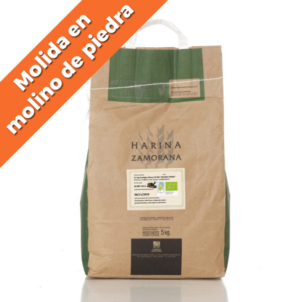 """Harina de trigo ecológica blanca W-200 """"Molino de Piedra"""" 5kg"""