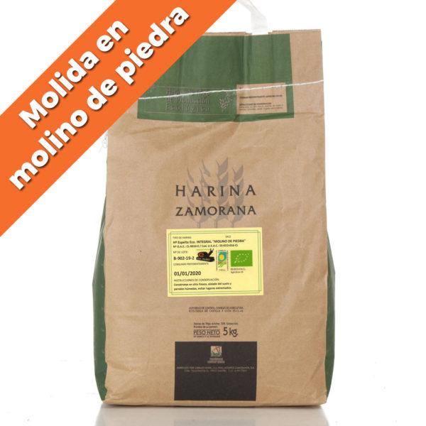 """Harina de Espelta Ecológica integral """"Molino de Piedra"""" 5kg"""